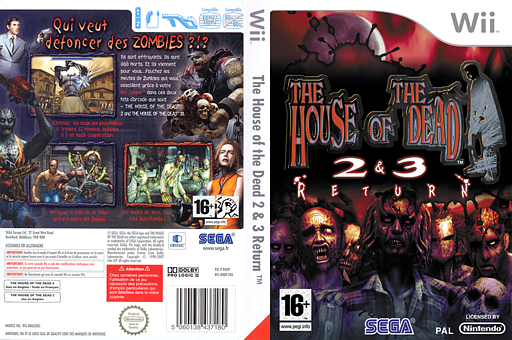 The House of the Dead 2 & 3 Return pochette Wii (RHDP8P)