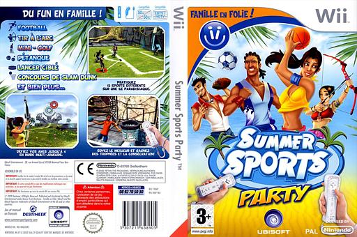 Famille en folie ! Summer Sports Party pochette Wii (RI6P41)