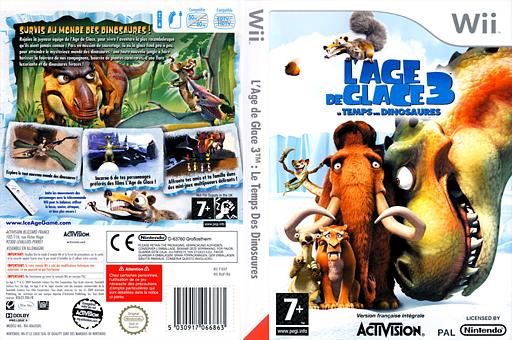 L'Age de Glace 3:Le Temps des Dinosaures pochette Wii (RIAP52)