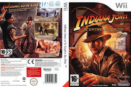Indiana Jones et le Sceptre des Rois pochette Wii (RJ8P64)