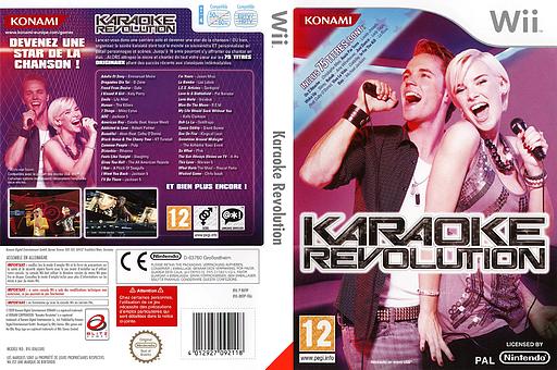 Karaoke Revolution pochette Wii (RK9PA4)