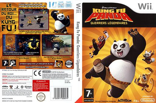Kung Fu Panda:Guerriers Légendaires pochette Wii (RKHP52)