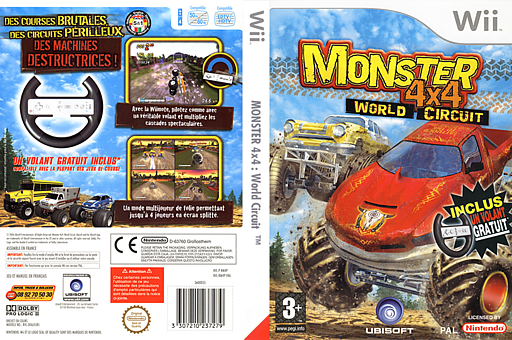 Monster 4x4 : World Circuit pochette Wii (RM4P41)