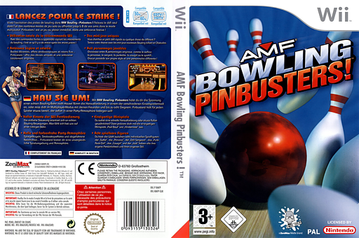 AMF Bowling Pinbusters! pochette Wii (RMFP68)