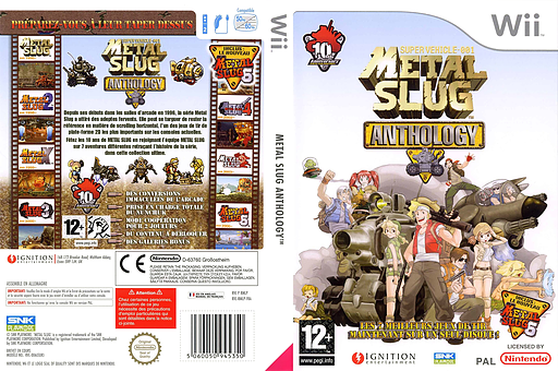 Metal Slug Anthology pochette Wii (RMLP7U)