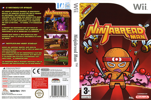 Ninjabread Man pochette Wii (RNMPUG)
