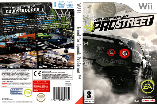 Need for Speed : ProStreet pochette Wii (RNPX69)