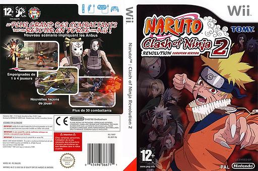 Naruto:Clash of Ninja Revolution 2 European Version pochette Wii (RNYPDA)