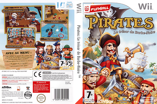 Pirates:Le trésor de Barbe-Noire pochette Wii (RP7P52)