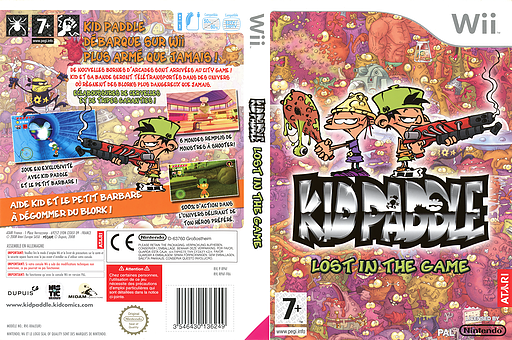 Kid Paddle : Lost in the Game pochette Wii (RPAF70)