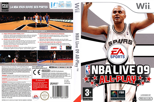NBA Live 09 All-Play pochette Wii (RQ9P69)
