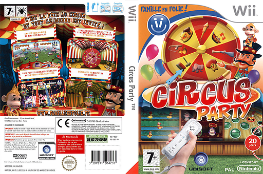 Circus Party pochette Wii (RQKP41)