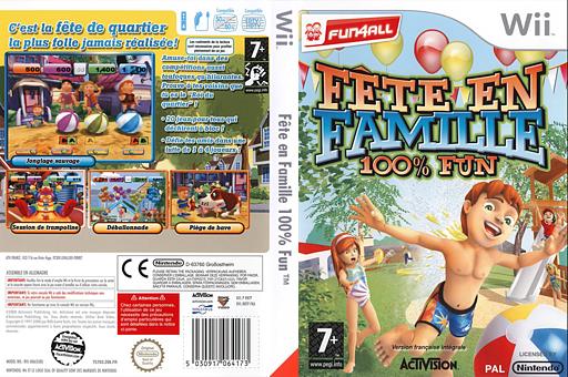 Fête en Famille 100% Fun pochette Wii (RRTP52)