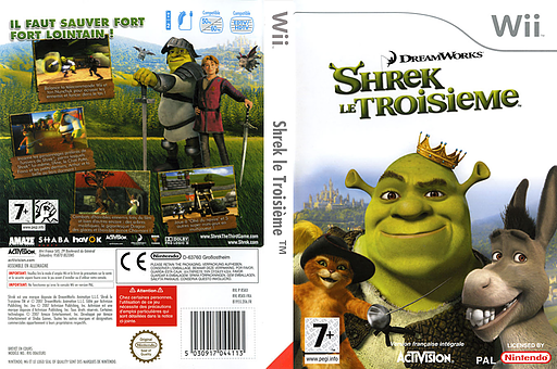 Shrek le Troisième pochette Wii (RSKP52)