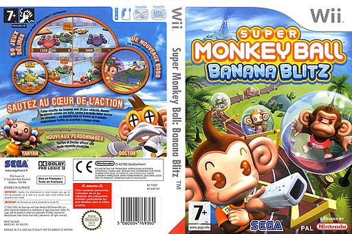 Super Monkey Ball:Banana Blitz pochette Wii (RSMP8P)
