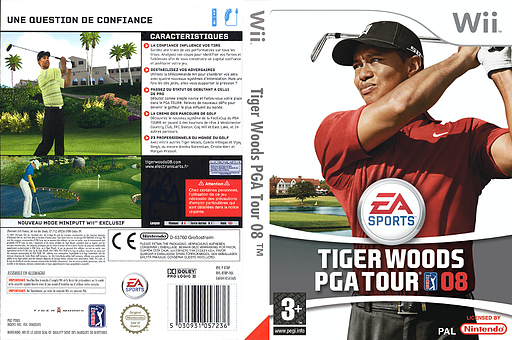 Tiger Woods PGA Tour 08 pochette Wii (RT8P69)