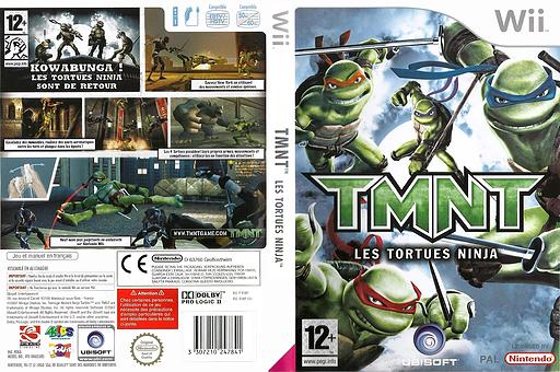 TMNT:Les Tortues Ninja pochette Wii (RTMP41)