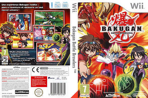 Bakugan Battle Brawlers pochette Wii (RUHP52)