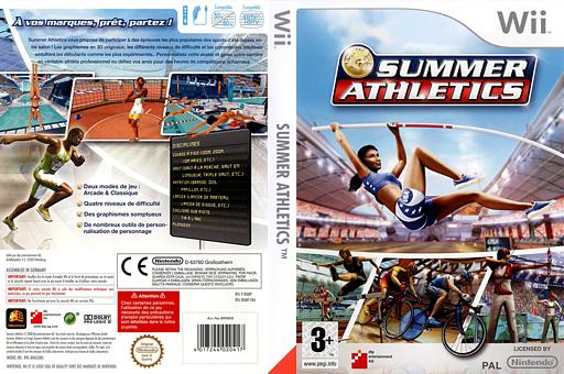 Summer Athletics pochette Wii (RUMPFR)