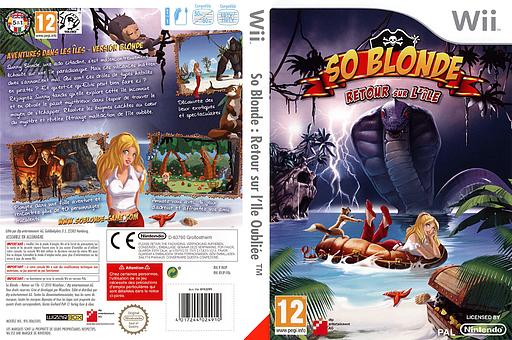 So Blonde :Retour sur l'Ile Oubliée pochette Wii (RVJPFR)