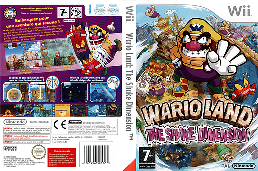 Wario Land : The Shake Dimension pochette Wii (RWLP01)