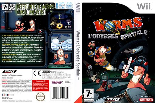 Worms:L'Odyssée Spatiale pochette Wii (RWMP78)