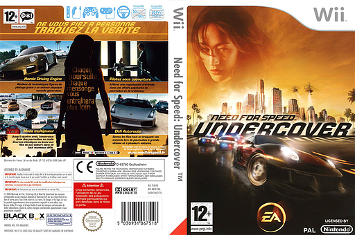 Need for Speed : Undercover pochette Wii (RX9X69)
