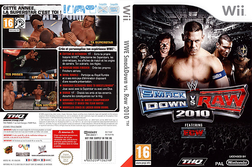 WWE SmackDown vs. Raw 2010 pochette Wii (RXAP78)