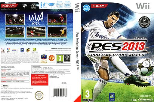 Pro Evolution Soccer 2013 pochette Wii (S3IXA4)
