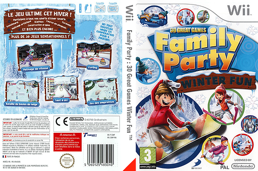 Family Party : 30 Great Games Winter Fun pochette Wii (S3WPG9)