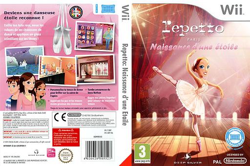 Repetto:Naissance d'une Etoile pochette Wii (SBRPKM)