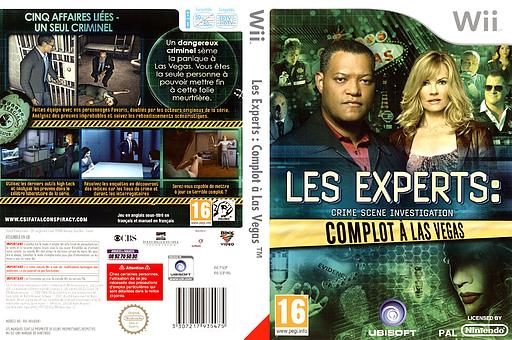 Les Experts:Complot à Las Vegas pochette Wii (SCIP41)
