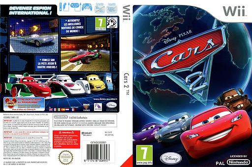 Cars 2 pochette Wii (SCYZ4Q)