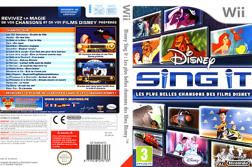 Disney Sing It:Les Plus Belles Chansons des Films Disney pochette Wii (SDFP4Q)