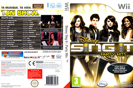 Disney Sing It : Party Hits pochette Wii (SDIP4Q)