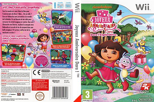 Joyeux Anniversaire Dora ! pochette Wii (SDPP54)