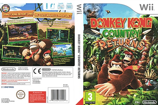 Donkey Kong Country Returns pochette Wii (SF8P01)
