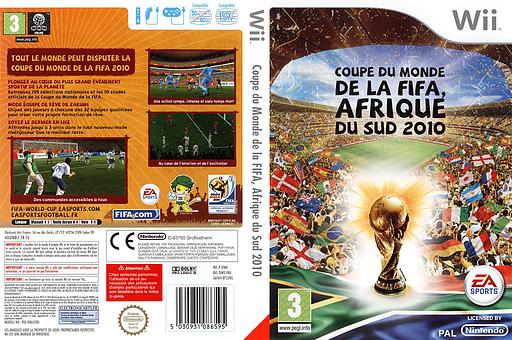 Coupe du Monde de la FIFA, Afrique du Sud 2010 pochette Wii (SFWX69)