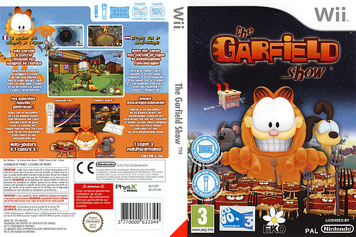 The Garfield Show: Threat of the Space Lasagna pochette Wii (SG7PVL)