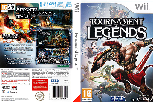 Tournament of Legends pochette Wii (SGAP8P)