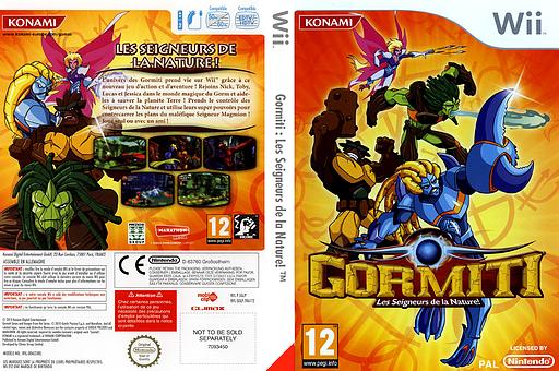 Gormiti:Les Seigneurs de la Nature! pochette Wii (SGLPA4)