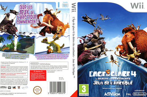 L'Âge de glace 4 :La dérive des continents-Jeux de l'Arctique pochette Wii (SIAP52)