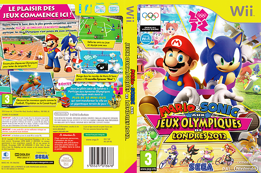 Mario & Sonic aux Jeux Olympiques de Londres 2012 pochette Wii (SIIP8P)