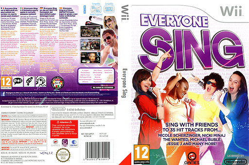 Everyone Sing pochette Wii (SL6PGN)