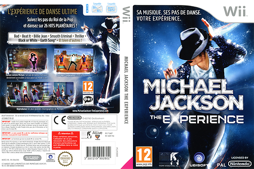 Michael Jackson The Experience pochette Wii (SMOP41)