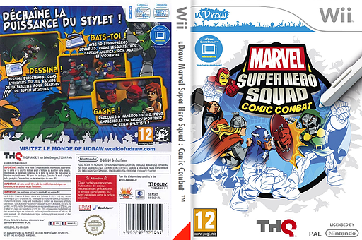 Marvel Super Hero Squad: Comic Combat pochette Wii (SMZP78)