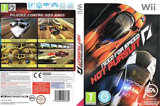 Need for Speed pochette Wii (SNHP69)