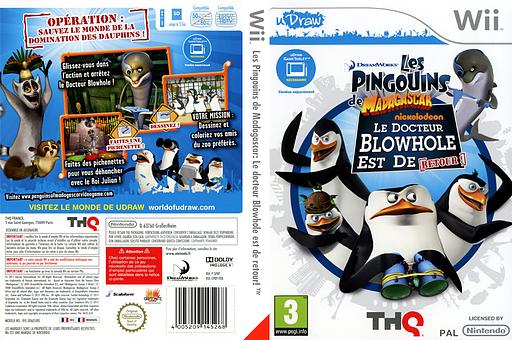 Les Pingouins de Madagascar: Le docteur Blowhole est de retour! pochette Wii (SP8P78)