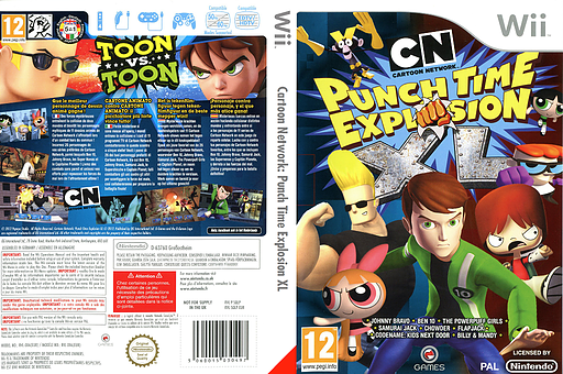 Cartoon Network: Punch Time Explosion XL pochette Wii (SQLPGN)
