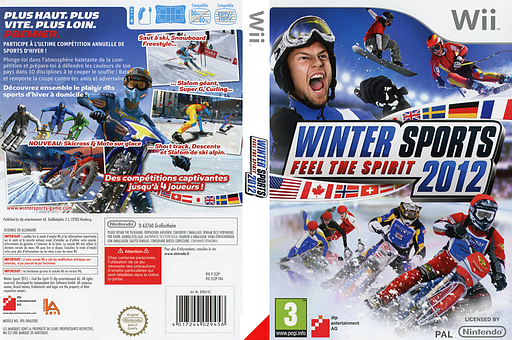 Winter Sports 2012 : Feel the Spirit pochette Wii (SS2PFR)